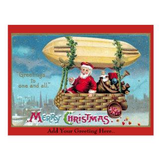Vintage Christmas Santa Illustration 1909 Postcard
