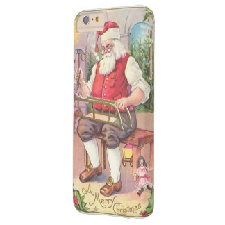 Vintage Christmas Santa in Workshop Barely There iPhone 6 Plus Case