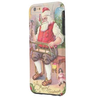 Vintage Christmas Santa in Workshop Tough iPhone 6 Plus Case
