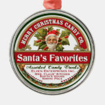 Vintage Christmas Santa Ornament Candy Favorites