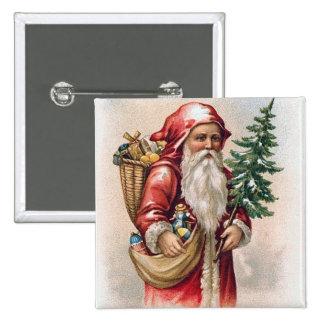 Vintage Christmas - Santa Pinback Button