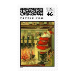 Vintage Christmas Santa Postage Stamp