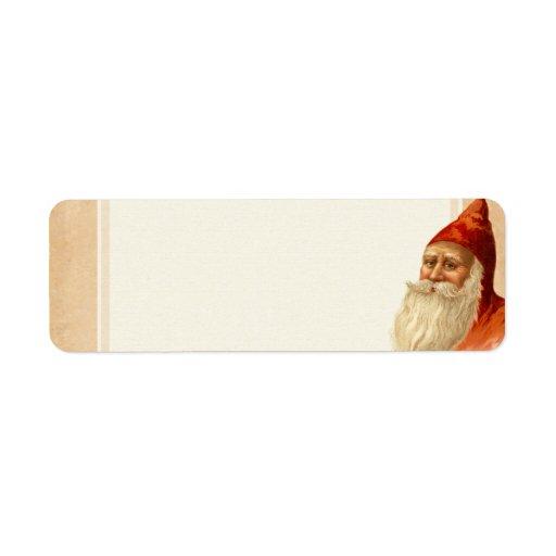 Vintage Christmas Santa Return Address Labels