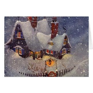 Vintage Christmas Santa s Workshop at North Pole Cards