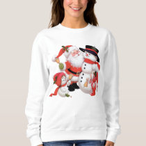 Vintage Christmas Santa snowman Holiday sweatshirt