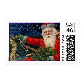 Vintage Christmas Santa Stamps stamp
