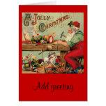 Vintage Christmas Santa's Workshop Toys Art Gifts Cards