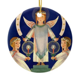 Vintage Christmas, Scandinavian Saint Lucia Angels