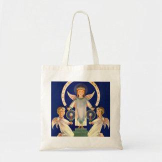 Vintage Christmas, Scandinavian Saint Lucia Angels Tote Bag