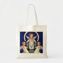 Vintage Christmas, Scandinavian Santa Lucia Angels Tote Bag
