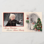 Vintage Christmas Scene Photo Card