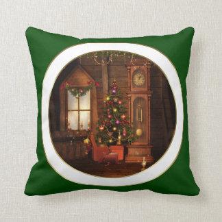 Vintage Christmas Scene Pillow