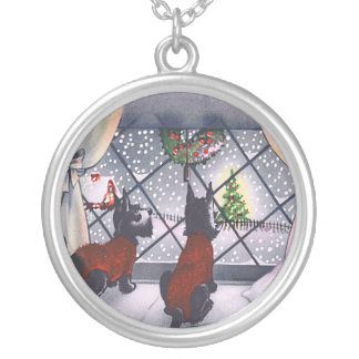 Vintage Christmas Scottish Terrier Puppies Jewelry