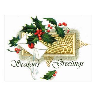 Vintage Christmas Season's Greetings Postcard