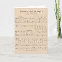 Vintage Christmas Sheet Music Carol Bells