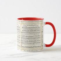 Vintage Christmas Sheet Music Mug