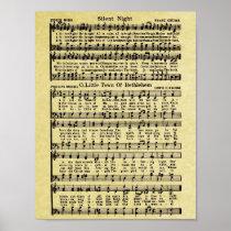 Vintage Christmas Sheet Music Replica