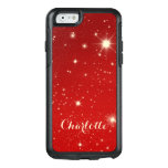 Vintage Christmas, Shining Stars in Red Galaxy OtterBox iPhone 6/6s Case