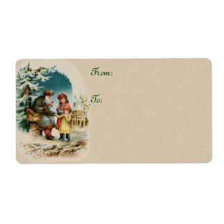 Vintage Christmas Shipping Labels