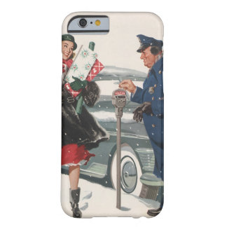 Vintage Christmas, Shopping Presents Policeman Barely There iPhone 6 Case