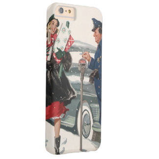 Vintage Christmas, Shopping Presents Policeman Barely There iPhone 6 Plus Case
