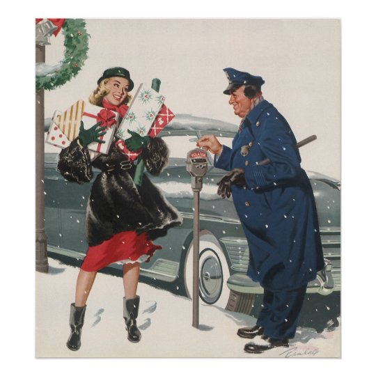 Image result for vintage christmas shopping images