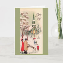 Vintage Christmas - Silent Night, Card