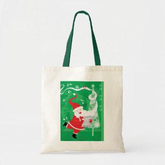Vintage Christmas, Singing and Dancing Santa Claus Tote Bag