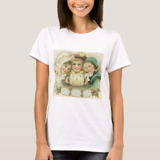 Vintage Christmas Sisters, Victorian Children T-Shirt