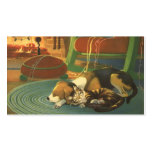 Vintage Christmas, Sleeping Animals by Fireplace Business Card