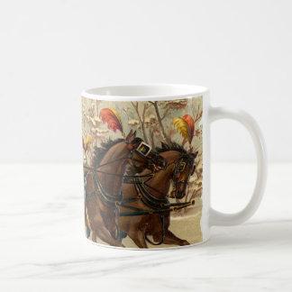 Vintage Christmas Sleigh Ride Mug