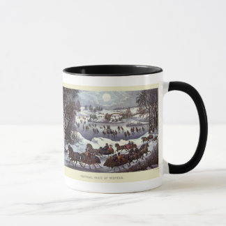 Vintage Christmas Sleighs, Central Park in Winter Mug