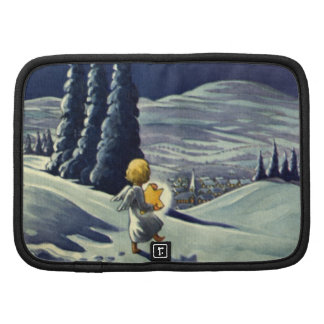 Vintage Christmas Snow Angel Walking with a Star Planners