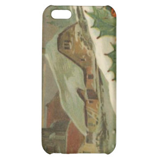 Vintage Christmas Snow Covered Town iPhone 5C Case
