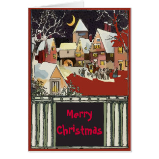 Vintage  Christmas Snow  edit text Card