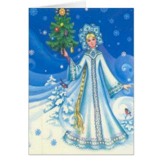 Vintage Christmas, Snow maiden Card