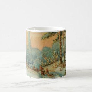 Vintage Christmas Snow Trail Coffee Mug