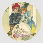 Vintage Christmas Snowball Stickers