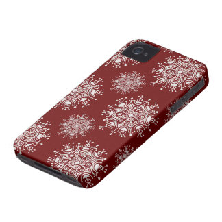 Vintage Christmas Snowflakes, Blizzard Pattern iPhone 4 Cover
