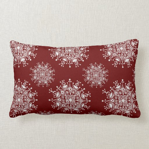 Vintage рождественские снежинки Blizzard, Pattern подушка