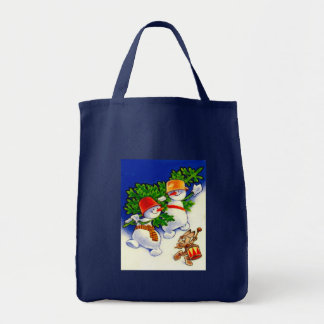 Vintage Christmas, Snowman band Bags