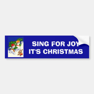 Vintage Christmas, Snowman band Bumper Stickers