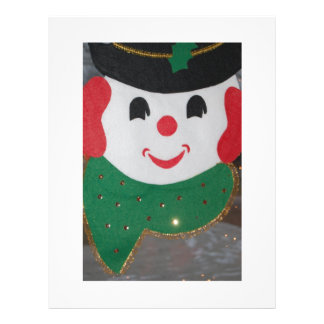 Vintage Christmas Snowman Custom Flyer