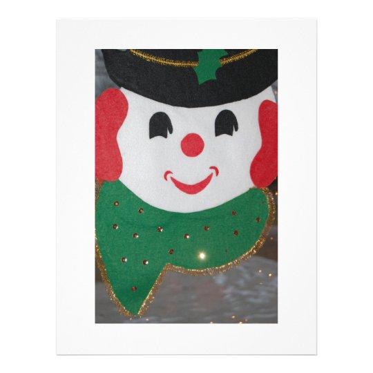 Vintage Christmas Snowman Flyer