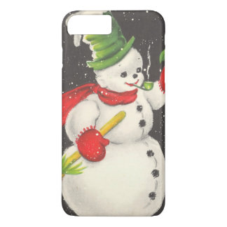 Vintage Christmas Snowman iPhone 8 Plus/7 Plus Case