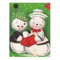 Vintage Christmas Snowman Postcards