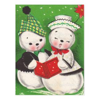 Vintage Christmas Snowman Postcards