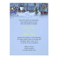Vintage Christmas snowy world religion's wedding Custom   Invite