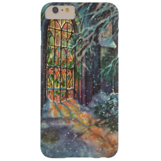 Vintage Christmas, Stained Glass Window in Church Barely There iPhone 6 Plus Case