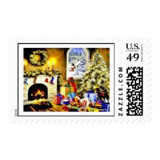 Vintage Christmas Stamp